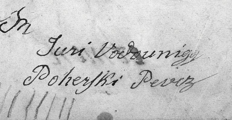 Rokopisni podpis Jurija Vodovnika